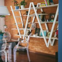 Móveis feitos com escada